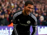 Eden Hazard goes down injured during the game between Crystal Palace and Chelsea on January 3, 2016