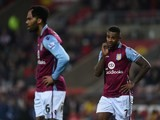 Joleon Lescott and Leandro Bacuna look deflated during the game between Sunderland and Aston Villa on January 2, 2016