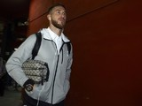 Sergio Ramos clutches a fetching washbag as he arrives for the game between Valencia and Real Madrid on January 3, 2016
