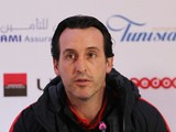 Paris Saint-Germain manager Unai Emery speaks at a press conference on January 3, 2017