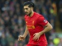Emre Can in action during the FA Cup game between Liverpool and Plymouth Argyle on January 8, 2017