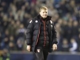 Eddie Howe looks downbeat during the FA Cup game between Millwall and Bournemouth on January 7, 2017