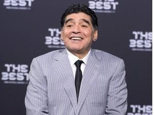Diego Maradona at the Best FIFA Football Awards on January 9, 2017