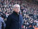 Claudio Ranieri watches on during the Premier League game between Southampton and Leicester City on January 22, 2017