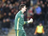 Hull City goalkeeper Eldin Jakupovic in action during his side's Premier League clash with Bournemouth at the KCOM Stadium on January 14, 2017