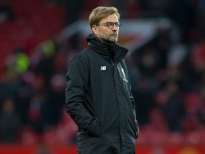 Liverpool manager Jurgen Klopp watches on during his side's Premier League clash with Manchester United at Old Trafford on January 15, 2017