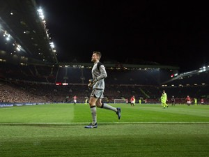 Liverpool goalkeeper Simon Mignolet in action during the Premier League clash with Manchester United at Old Trafford on January 15, 2017