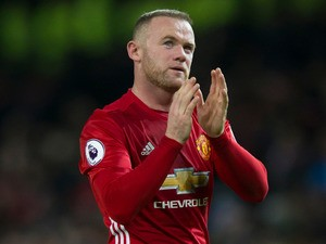Manchester United striker Wayne Rooney in action during the Premier League clash with Liverpool at Old Trafford on January 15, 2017