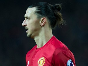Manchester United striker Zlatan Ibrahimovic in action during the Premier League clash with Liverpool at Old Trafford on January 15, 2017