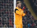 Loris Karius in action during the EFL Cup semi-final between Liverpool and Southampton on January 25, 2017