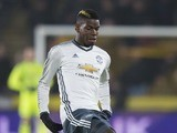 Paul Pogba in action during the EFL Cup semi-final between Hull City and Manchester United on January 26, 2017
