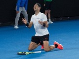 Rafael Nadal celebrates reaching the final of the Australian Open on January 27, 2017