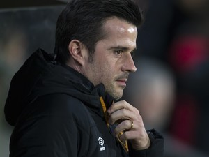Marco Silva watches on during the EFL Cup semi-final between Hull City and Manchester United on January 26, 2017