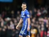 A happy Pedro in action during the Premier League game between Chelsea and Arsenal on February 4, 2017
