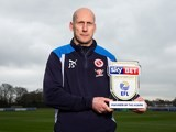 Reading manager Jaap! Stam! poses with his Championship manager of the month award for January 2017 [DO NOTE USE UNTIL FEB 10]