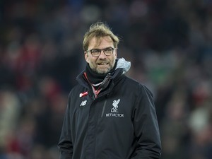 Reds boss Jurgen Klopp appears ahead of the Premier League game between Liverpool and Tottenham Hotspur on February 11, 2017