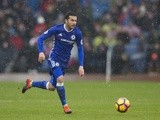 Pedro in action in the Premier League match between Burnley and Chelsea on February 12, 2017