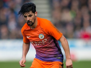Manchester City striker Nolito in action during his side's FA Cup fifth round clash with Manchester City at the John Smith's Stadium on February 18, 2017