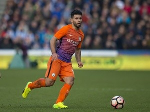 Manchester City's Sergio Aguero during the FA Cup fifth-round match against Huddersfield Town on February 18, 2017