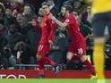 Liverpool midfielder Roberto Firmino celebrates scoring against Arsenal on March 4, 2017