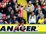 Nathan Redmond celebrates scoring during the Premier League game between Watford and Southampton on March 4, 2017