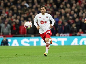 Southampton striker Manolo Gabbiadini in action during his side's EFL Cup final with Manchester United at Wembley on February 26, 2017