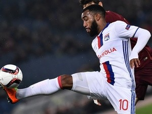 Lyon's Alexandre Lacazette in the Europa League match against Roma on March 16, 2017