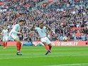 Jermain Defoe opens the scoring during the World Cup qualifier between England and Lithuania on March 26, 2017