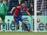 James Tomkins of Crystal Palace celebrates scoring against Southampton on December 3, 2016