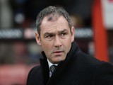 Paul Clement watches on during the Premier League game between Bournemouth and Swansea City on March 18, 2017