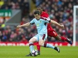 Joey Barton and Georginio Wijnaldum during the Premier League match between Burnley and Liverpool on March 12, 2017