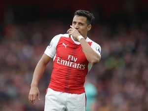 Arsenal's Alexis Sanchez during the Premier League match against Manchester City on April 2, 2017
