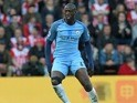 Yaya Toure in action during the Premier League game between Southampton and Manchester City on April 15, 2017`