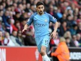 Jesus Navas in action during the Premier League game between Southampton and Manchester City on April 15, 2017`