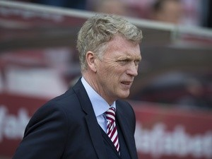 Sunderland manager David Moyes at the Premier League match against Manchester United on April 9, 2017