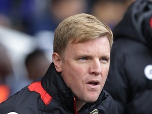 Eddie Howe watches on during the Premier League game between Tottenham Hotspur and Bournemouth on April 15, 2017