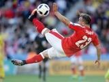 Switzerland's Xherdan Shaqiri in action during the Euro 2016 match against Romania on June 15, 2016