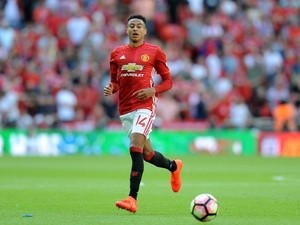 Manchester United's Jesse Lingard in action during the Community Shield match against Leicester City on August 7, 2016