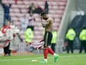 Sunderland's Jermain Defoe reacts after losing to Bournemouth on April 29, 2017
