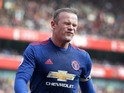 Manchester United forward Wayne Rooney rues a missed chance during his side's Premier League clash with Arsenal at the Emirates Stadium on May 7, 2017