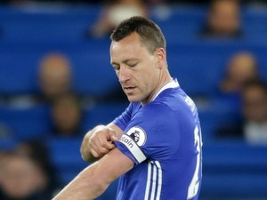 John Terry comes on during the Premier League game between Chelsea and Middlesbrough on May 8, 2017
