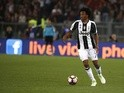 Juan Cuadrado of Juventus in action against AS Roma on May 14, 2017