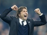 Antonio Conte celebrates Chelsea's Premier League win over Watford on May 15, 2017