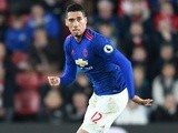 Manchester United's Chris Smalling in action against Southampton on May 17, 2017