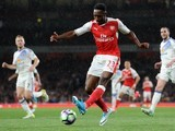 Danny Welbeck in action during the Premier League game between Arsenal and Sunderland on May 16, 2017