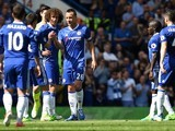 John Terry leaves the pitch during the Premier League game between Chelsea and Sunderland on May 21, 2017