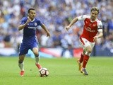 Chelsea's Pedro on the attack against Arsenal in the FA Cup final on May 27, 2017