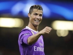 Real Madrid's Cristiano Ronaldo celebrates scoring against Juventus in the Champions League final on June 3, 2017