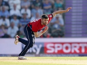 Mark Wood of England during the T20 against South Africa on June 21, 2017