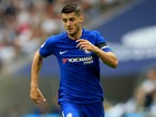 Alvaro Morata in action during the Premier League game between Tottenham Hotspur and Chelsea on August 20, 2017